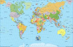 High Resolution World Map Physical America Map With Country Names World Map Image Without Country Names Mapamundi Para Rellenar Paises High Resolution Europe Map With Cities Full World Map, New World Map, World Map With Countries, Detailed World Map, World Maps, Free Printable World Map, Printable Maps, Printable Crafts, Printables