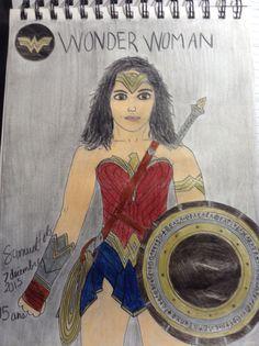 Wonder Woman Wonder Woman, Superhero, Drawings, Fictional Characters, Women, Art, Sketches, Craft Art, Women's