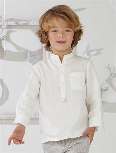 Boys' Shirt WHITE+OFF-WHITE+WHITE STRIPE+PALE PINK