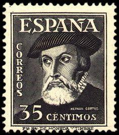 Sello: Hernán Cortés (España) (Personas famosas) Mi:ES 953,Sn:ES 754,Yt:ES 777,Sg:ES 1092,Edi:ES 1035