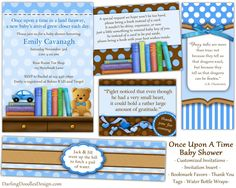 the cutest baby shower invitations and packages!! a must!! with bring a book instead of a card! LOVE LOVE LOVE