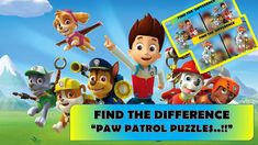 """FIND THE DIFFERENCE """"PAW PATROL PUZZLES..!!""""    """"MIGHTY PUPS ARE READY T... Animated Cartoons, Cool Cartoons, Cartoon Fun, Fun Quizzes, Paw Patrol, Different, Puzzles, Pup, Animation"""