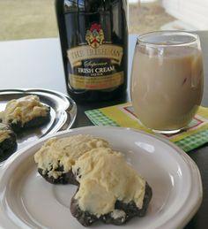 Irish Cream Kissed Chocolate Cookies taste of dark chocolate cookie ...