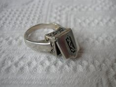 Vintage Sterling Silver Poison Ring by Vanityfare on Etsy