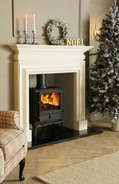 Super Wood Burning Stove Fireplace Fire Surround Log Burner Ideas - My Future Home Log Burner Living Room, My Living Room, Home And Living, Wood Burner Fireplace, Wood Burning Fireplace Inserts, Fireplace Ideas, Simple Fireplace, Mantel Ideas, Fireplace Mantel