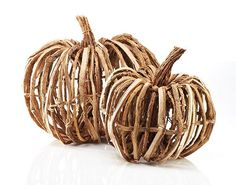 Rattan pumpkins make the perfect fall centerpiece for the dining table, coffee table, console table... you name it! HomeDecorators.com