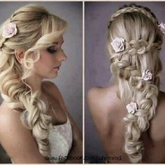 There are so many beautiful bridal hair styles for wedding day and every style have its own glamour. Check these out bridal hair styles photos and get inspired Bridal Hairstyles With Braids, Wedding Hairstyles For Long Hair, Pretty Hairstyles, Braided Hairstyles, Braided Updo, Updo Hairstyle, Bridesmaid Hairstyles, Roman Hairstyles, Hairstyle Ideas