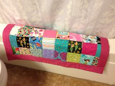 WAHINE Quilted Patchwork Bath Mat 16 x 26.5 aloha by zanman, $42.00