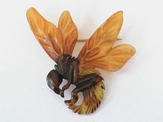 Art Nouveau Carved Horn Bumble Bee Brooch   Call A1 Bee Specialists in Bloomfield Hills, MI today at (248) 467-4849 to schedule an appointment if you've got a stinging insect problem around your house or place of business! You can also visit www.a1beespecialists.com!