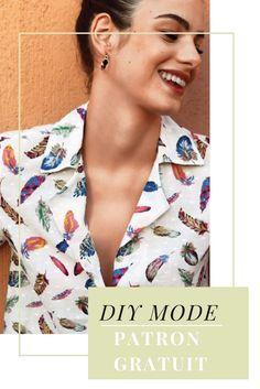 Patron gratuit pour coudre une chemise / free sewing patterns /  coudre une chemise patron de couture
