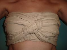 A strophium was usually used to cover a chest, by women and men, a single piece of fabric wrapped and tied