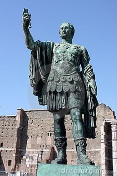 "My best friend Caesar's statue that was ""pouring blood"""