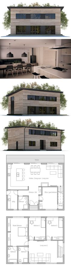 Small House Plan, Modern Small Home