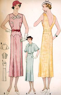McCall 7244   ca. 1933 Misses' Dress and Jacket