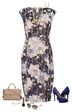 """""""Navy & beige"""" by julietajj on Polyvore featuring French Connection, Salvatore Ferragamo, Enzo Angiolini, NLY Accessories, Marc by Marc Jacobs, 14th & Union, Swarovski, women's clothing, women and female"""