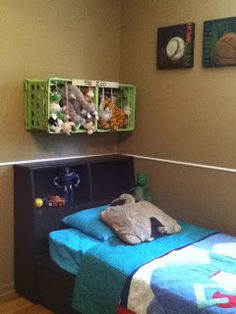 DIY Storage Solutions for Stuffed Animals All Things With Purpose: Storage Solut. DIY Storage Solutions for Stuffed Animals All Things With Purpose: Storage Solut… DIY Storage Sol Stuffed Animal Storage, Diy Stuffed Animals, Kids Storage, Toy Storage, Boys Bedroom Decor, Room Themes, Boy Room, Storage Solutions, Toddler Bed