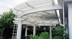 Arbors And Trellises | Arbor, Trellis & Gazebo Gallery I would love to build this over r new back deck next year but I can just see us trying to figure out how to make it,let alone make it in a circle uggg!!!