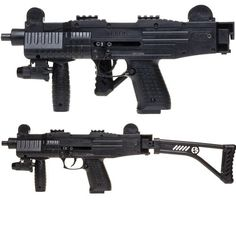 Asi Fully Automatic Blank Firing SMG Foldling Stock Black Finish Replica Guns, Sci Fi Weapons, Self Defense, It Is Finished, Swords, Firearms, Black, Weapons Guns, Black People
