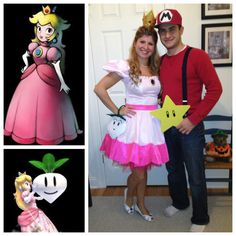 Leg Avenue Princess Peach Costume with DIY crown & radish wristlet.