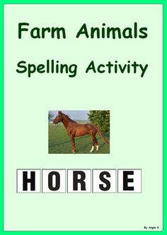 $ Farm Animals Spelling- 50% off today!