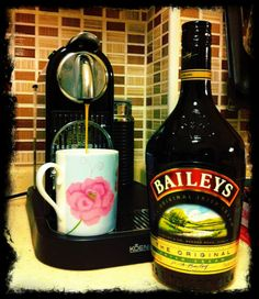 nespresso, baileys, home, coffee break