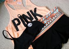 Wish I could get my workout gear from victoria secret Pink Outfits, Dance Outfits, Sport Outfits, Summer Outfits, Cute Outfits, Fashion In, Fashion Moda, Fitness Fashion, Fashion News