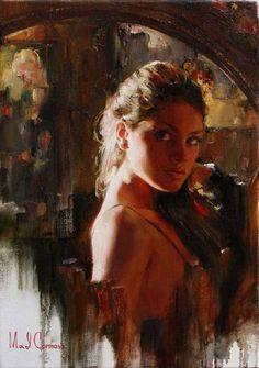 Original Painting, The Look by Michael & Inessa Garmash