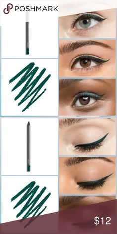 Jules When Pencil Met Gel Forest Green Shimmer Clinically proven to last for 10+ hours, this easy-to-use eye pencil delivers the creamy formula & intense color payoff of a gel eyeliner. The waterproof formula glides on, sets in 30 seconds, and then stays put. Because eyeliner shouldn?t stand in the way of adventures.    .042 oz  Description & a few pics from Julep site. Julep Makeup Eyeliner