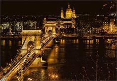 Budapest-Kettenbrücke Budapest, Tower Bridge, Places, Travel, Pictures, Viajes, Destinations, Traveling, Trips
