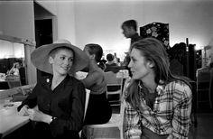 Catherine Deneuve and Francoise Dorleac