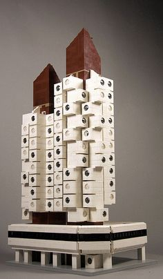 LEGO Nakagin Capsule Tower captures the Metabolist spirit Tower Building, Lego Building, Metabolist, Nakagin Capsule Tower, Kisho Kurokawa, Micro Lego, Arch Model, Lego Architecture, Japanese Architecture