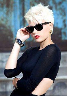 Short Elegant Pixie Hair Cut for Women