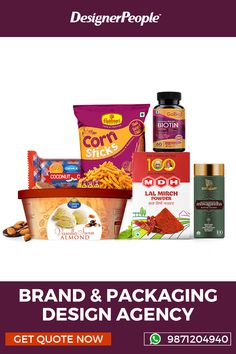 We're a dedicated branding and packaging design agency, with experience of over 17+ years and 1200+ of successful projects ranging from SMEs to India's top brands. In today's era, we believe along with innovation, creativity and functionality the interactive and emotional features also play an essential role in connecting customers mind. #packagingdesigngagency #Packagingagency #brandingagency Food Packaging Design, Brand Packaging, Branding Design, Branding Agency, Design Agency, Service Design, Creative, Projects, Log Projects