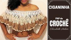 Crochet Crop Top, Crochet Blouse, Crochet Bikini, Crochet Girls, Diy Crochet, Crochet Designs, Crochet Patterns, Crochet Collar, Crochet Chart