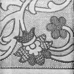 embroidery - just black and white and a few different line widths but it works Blackwork Embroidery, Embroidery Stitches, Embroidery Patterns, Linen Stitch, Fabric Manipulation, Textile Design, Couture, Fiber Art, Hand Sewing