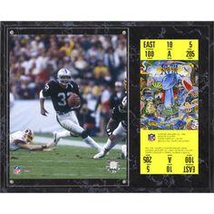 "Marcus Allen Oakland Raiders Fanatics Authentic 12"" x 15"" Super Bowl XVIII Sublimated Plaque with Replica Ticket"