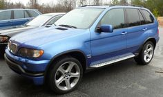 BMW X5 E53 Blue Check out for more on: http://dailybulletsblog.com/60-best-pictures-of-bmw-x5-e53/ #X5 #E53 #BMW