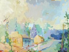 """""""Cross Roads"""" by Henry Isaacs. 30"""" x 40"""" Oil. Available at Maine Art Paintings & Sculpture."""