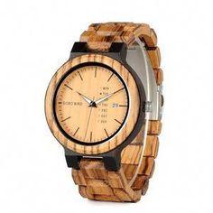 d8b33ecde6e0c6 Cool Watches  Hot Offer relogio masculino BOBO BIRD Wood Watch Men erkek  kol saati Week Display Date Quartz Watches Wooden Accept Logo Drop Shipping