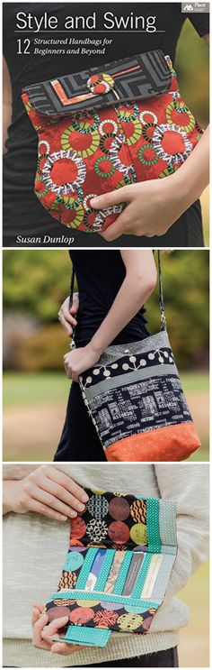 Style and Swing: 12 Structured Handbags for Beginners and Beyond. Great reviews on this book - I can see why. I really like all of the bag sewing patterns in this one. Recommended for anyone interested in sewing bags. http://amzn.to/2disf9f