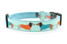 "Dog Collar ""Stylish Doxies / Dachshunds"" - 1"" Width - Available in 2 Sizes (M or L). $20.99, via Etsy."