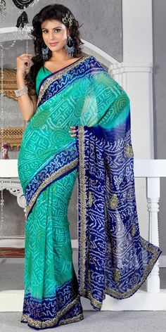 Luxurious Bandhej Saree - much potential for bridesmaids dresses if this is the colour theme