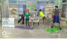 Dan Wheeler, Mindy Buxton, Marie Osmond & Adam Gregory at QVC with the Body Gym
