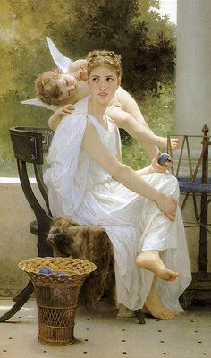 William Bouguereau (1825-1905) -     Work Interrupted (1891) Mead Art Museum, Amherst College -     http://www.goodart.org/artofwb.htm