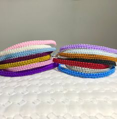 Friendship bracelet x2, skinny stacking, festival bracelets, friend bracelets. Boho bracelets, pink, blue, woven bracelets by MoMoonstoneCottage on Etsy Green Earrings, Gemstone Earrings, Silver Earrings, Earrings Uk, Woven Bracelets, Colorful Bracelets, Friend Bracelets, Friendship Bracelets, Festival Bracelets