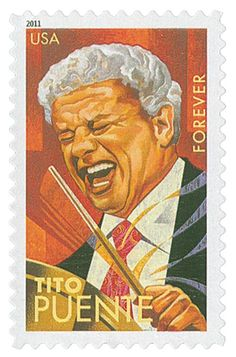 2011 First-Class Forever Stamp - Latin Music Legends: Tito Puente Latin Music, Latin Dance, Dance Music, Musica Salsa, Salsa Music, Puerto Rican Culture, Hispanic Heritage, Salsa Dancing, Puerto Ricans