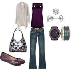 Love Purple ;)  - Click image to find more Women's Apparel Pinterest pins