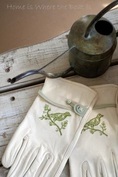 garden gloves - too pretty to use