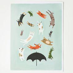 Print regende katten en honden