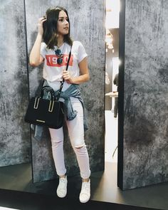 Girl Fashion, Fashion Looks, Fashion Outfits, Womens Fashion, Fashion Trends, Jean Outfits, Casual Outfits, Cute Outfits, Looks Style